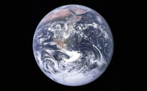 "The historical photo of the ""Blue Marble"" Earth, taken from Apollo 17 on December 7, 1972"