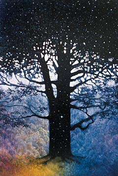 oil painting of the World Tree by Olaf Mademann, 2002
