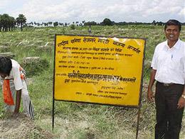 SM Raju at a tree-planting site. © Prashant Ravi