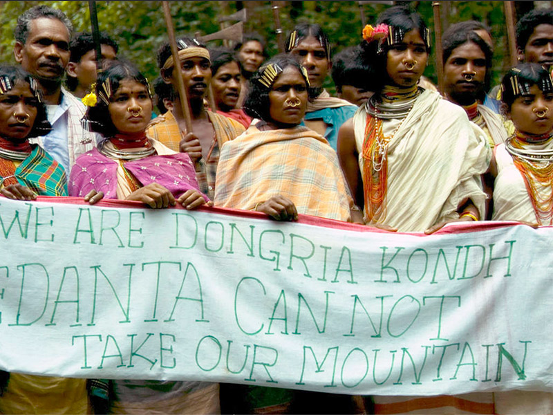 Dongria Kondh demo. © Survival International