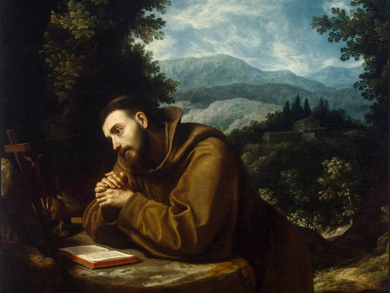 Francis of Assisi, oil painting by Lodovico Cigoli, 1597/9. © Creative Commons License