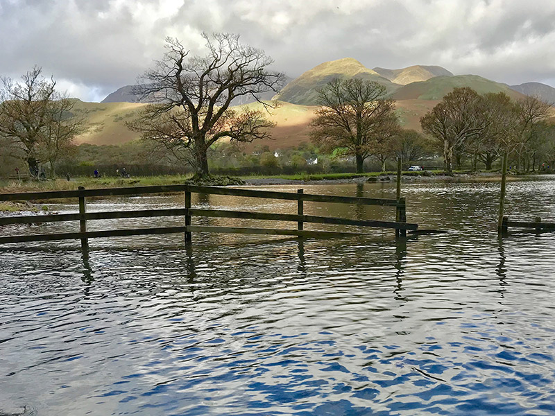 flooded lowlands in Cumbria. © JoJoH/shutterstock.com