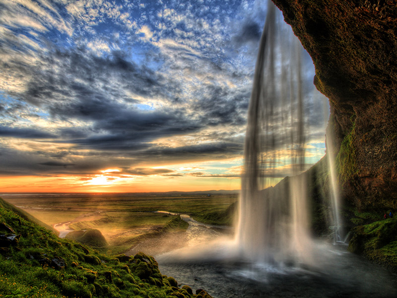 Seljalandfoss waterfall in Iceland. © RomanSlavik/shutterstock.com